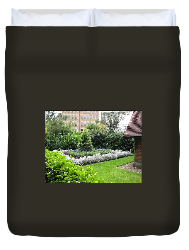Ireland Duvet Cover featuring the photograph St. Stephen's Garden by Kelly Mezzapelle