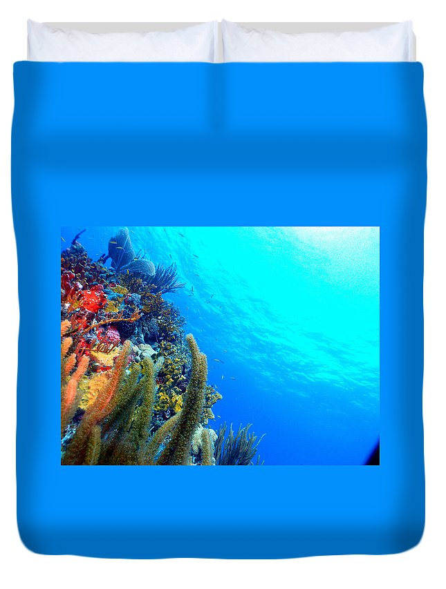 Duvet Cover featuring the photograph St. Thomas Seascape by Todd Hummel