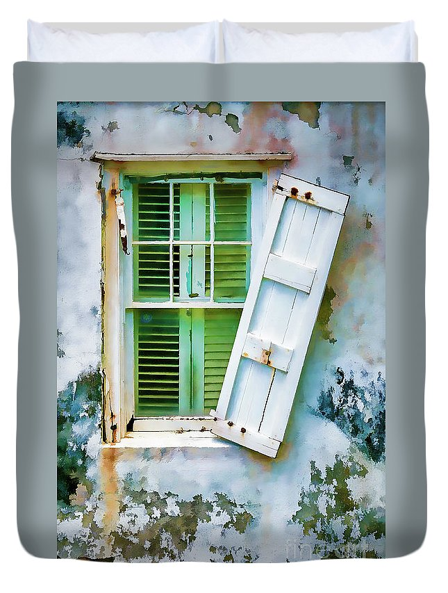 St Thomas Duvet Cover featuring the photograph St Thomas - Window 1 by Stefan H Unger