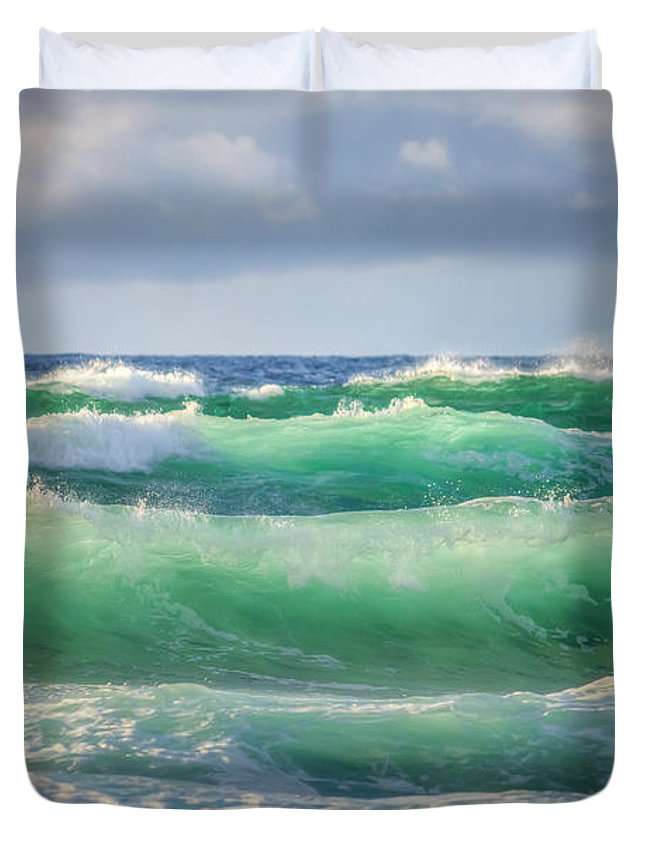 Seascape Duvet Cover featuring the photograph Stacked 0014 by Kristina Rinell