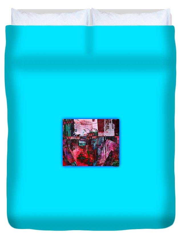 Stackin' The Alley Walk About Duvet Cover featuring the digital art Stackin' The Alley Walk About by Tony Adamo