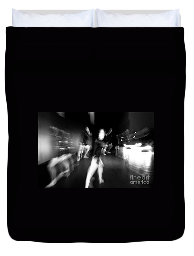 Moden Dance Duvet Cover featuring the photograph Stage Zoom - 1 by Scott Sawyer