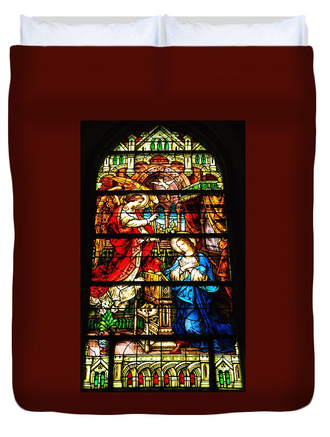 Cape May Duvet Cover featuring the photograph Stained Glass - Cape May by Bill Cannon