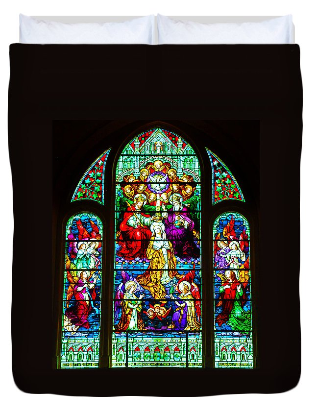 Cape May Duvet Cover featuring the photograph Stained Glass by Bill Cannon