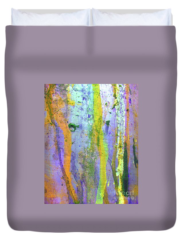 Abstract Duvet Cover featuring the photograph Stains Of Paint by Carlos Caetano