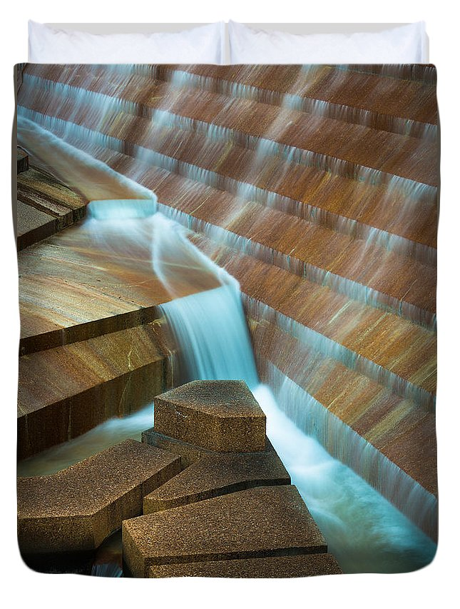 America Duvet Cover featuring the photograph Staircase Fountain by Inge Johnsson
