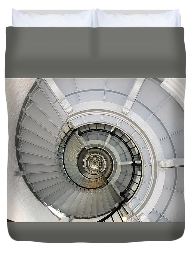 Stairs Duvet Cover featuring the photograph Stairs by Jennifer Raines