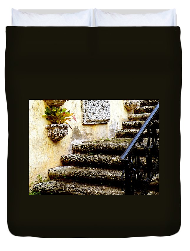 Landscape Duvet Cover featuring the photograph Stairs To Life by Patricia Awapara