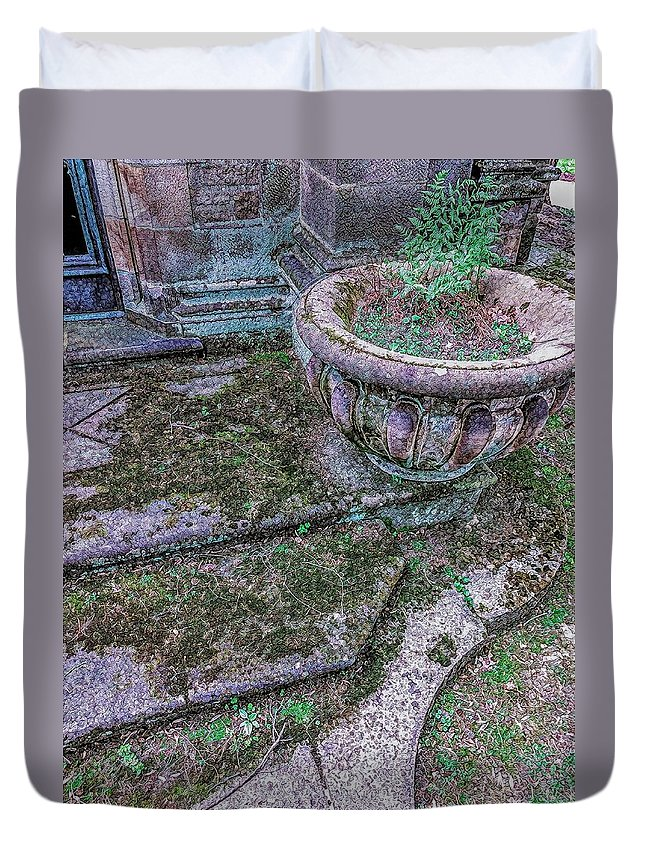 Duvet Cover featuring the photograph Stairway by Lorie Kash