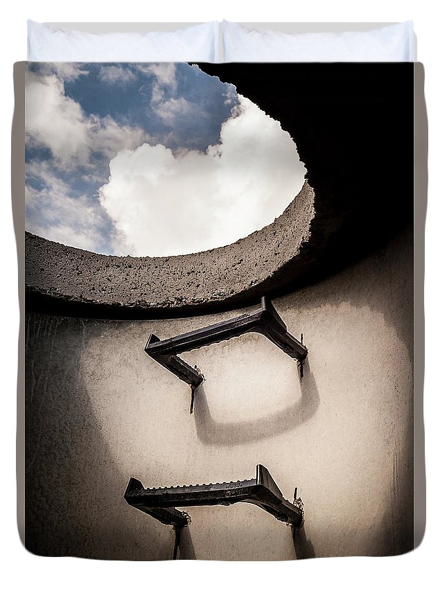 Architecture Duvet Cover featuring the photograph Stairway To Heaven - Inside Out by Steven Milner