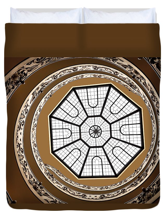 Vatican Museum Duvet Cover featuring the photograph Stairway To Heaven by Janet Fikar