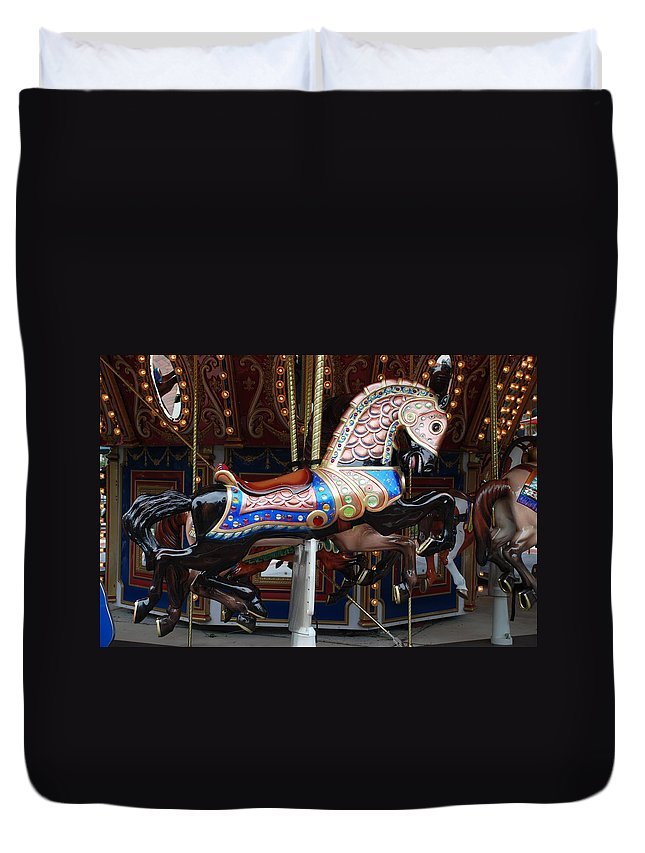 Pop Art Duvet Cover featuring the photograph Stallion by Rob Hans
