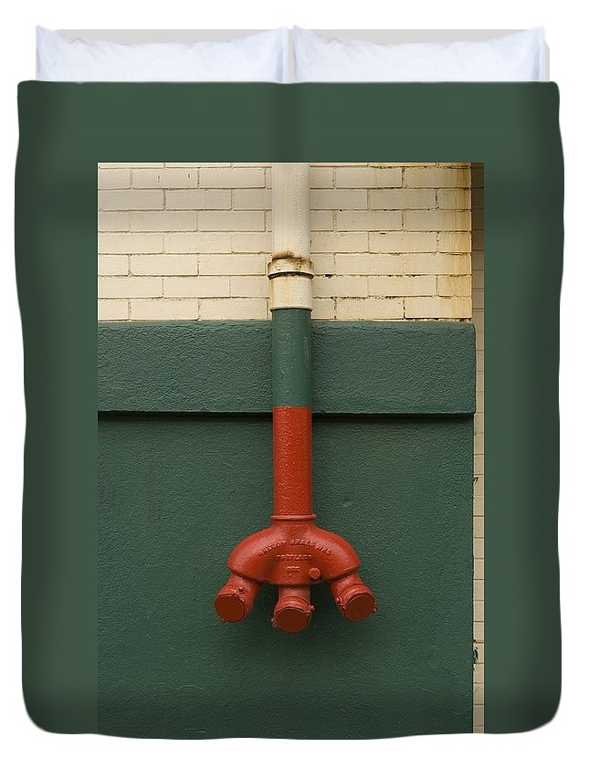 Fire Duvet Cover featuring the photograph Stand Pipe by Sara Stevenson
