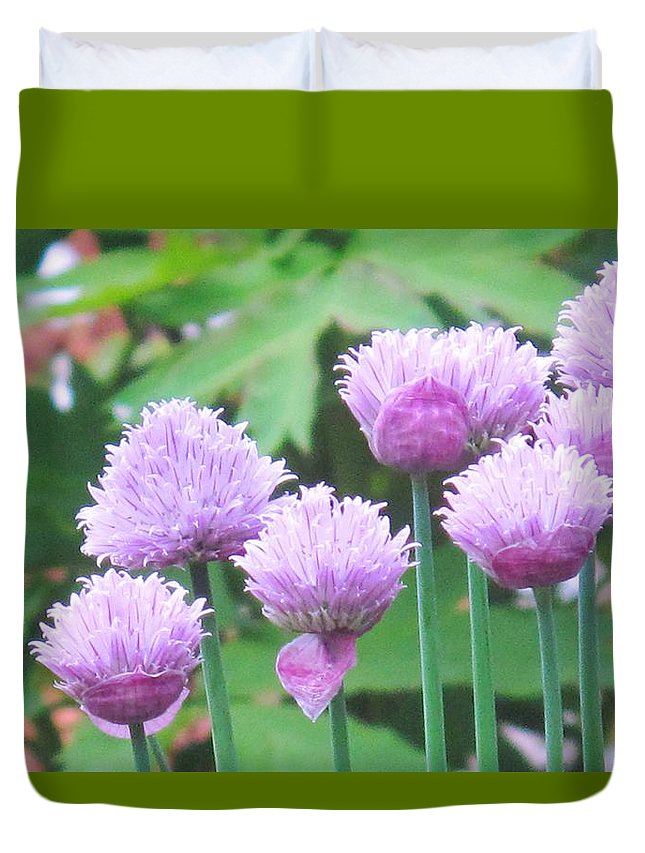 Flower Duvet Cover featuring the photograph Stand Tall by Ian MacDonald