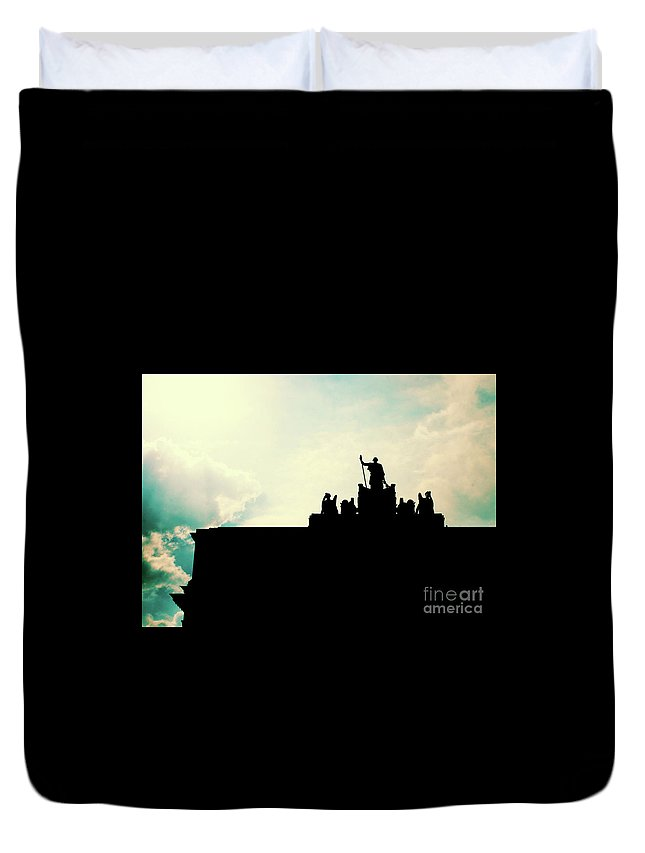 Photograph Duvet Cover featuring the photograph Standing Guard by Chuck Redick
