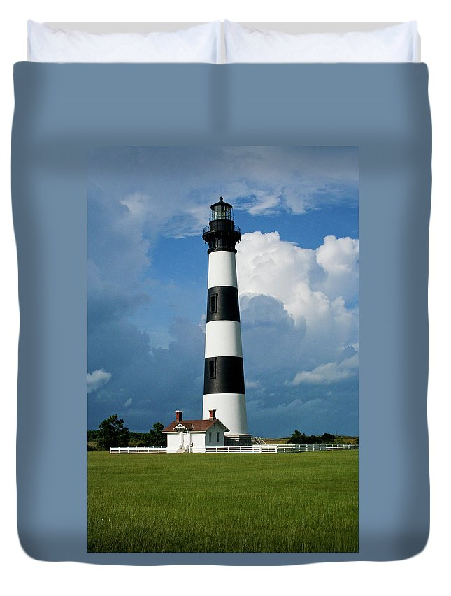 Bodie Island Duvet Cover featuring the photograph Standing Tall by Rob Narwid