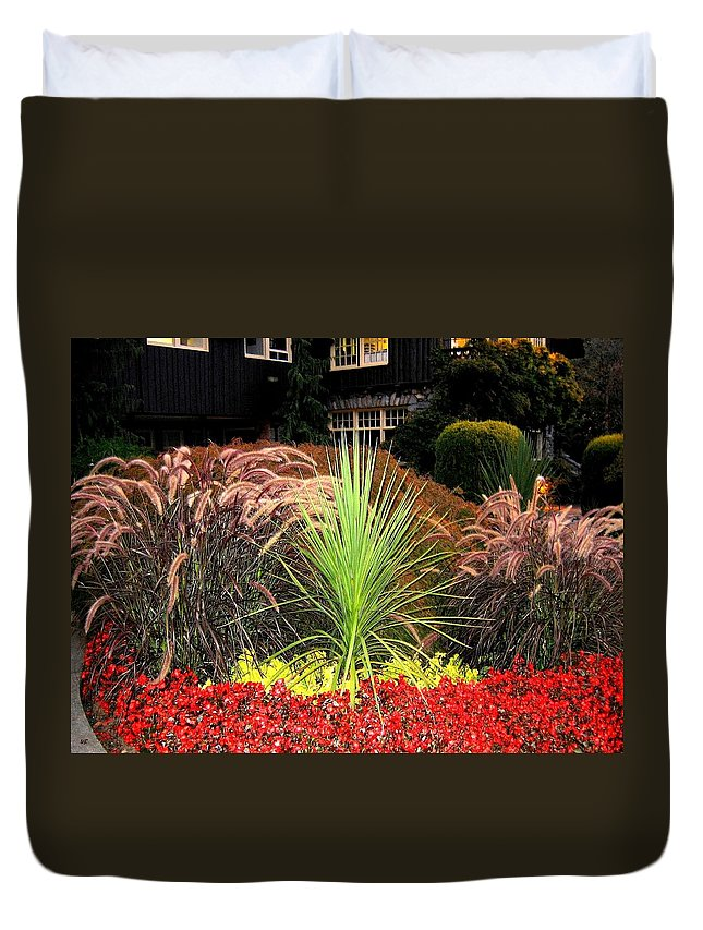 Stanley Park Duvet Cover featuring the photograph Stanley Park Gardens by Will Borden