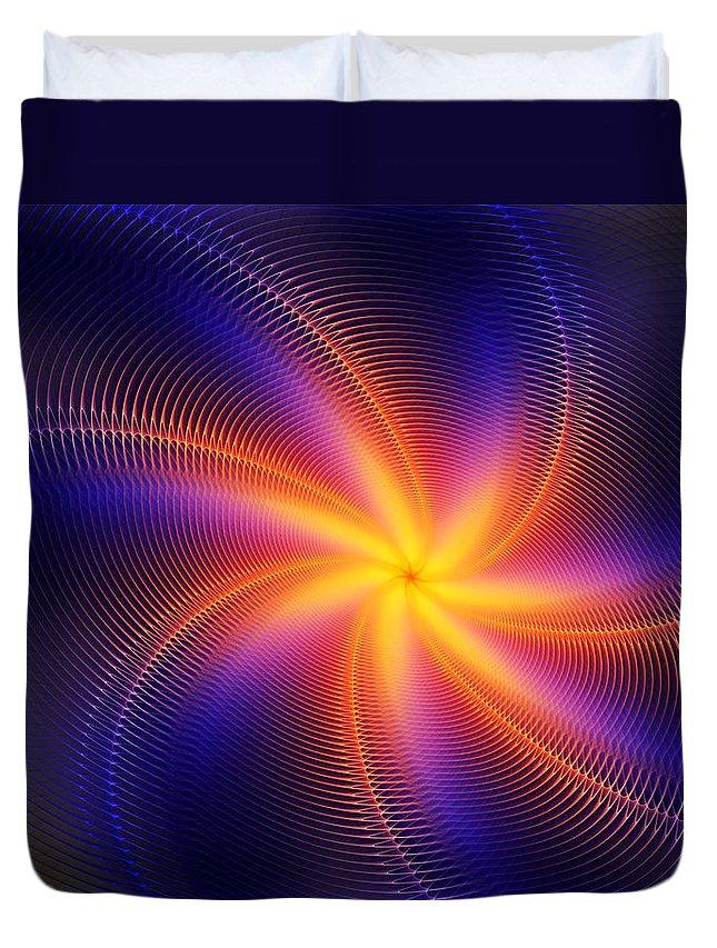 Digital Painting Duvet Cover featuring the digital art Star Daze by David Lane