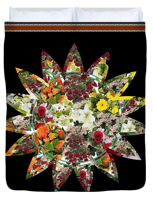 Flower Duvet Cover featuring the digital art Star Flower Bouquet Creation By Navinjoshi At Fineartamerica.om Graphics Art  Elegant Interior Deco by Navin Joshi
