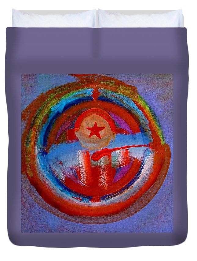 Love Duvet Cover featuring the painting Star Of The Sea by Charles Stuart