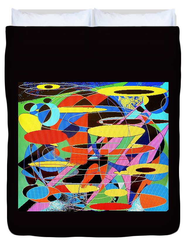 Abstract Duvet Cover featuring the digital art Star Wars by Ian MacDonald