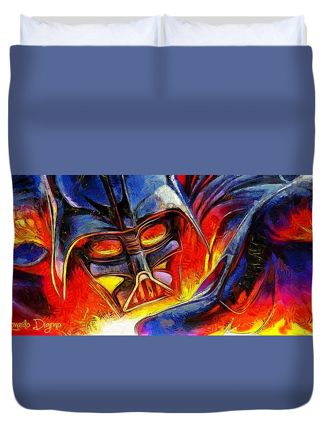 Star Wars 7 Duvet Cover featuring the painting Star Wars Your Turn by Leonardo Digenio