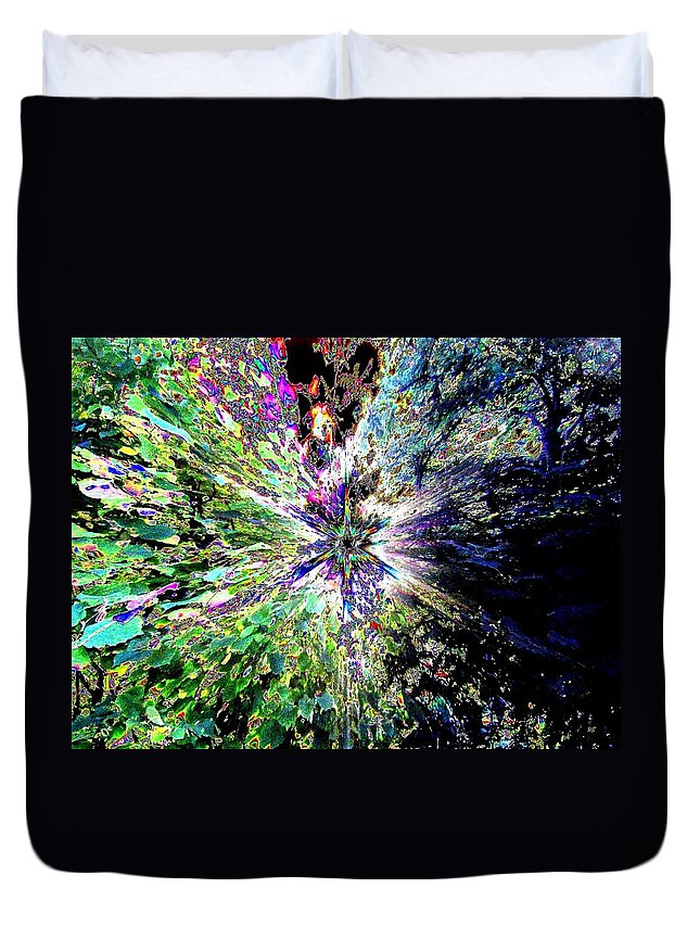 Starburst Duvet Cover featuring the digital art Starburst by Will Borden