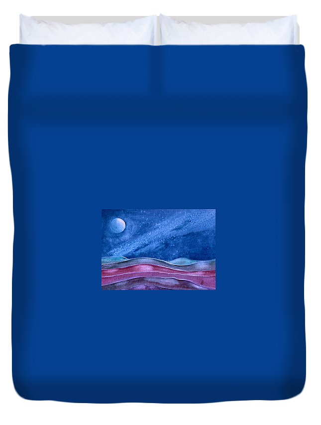 Landscape Duvet Cover featuring the painting Stardust by Brenda Owen