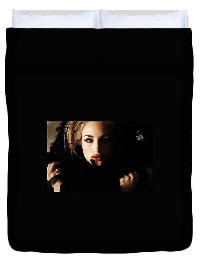 Clay Duvet Cover featuring the photograph Stare by Clayton Bruster