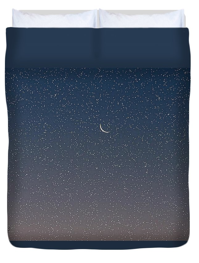 Duvet Cover featuring the photograph Starry Morning Sky by Luciana Seymour