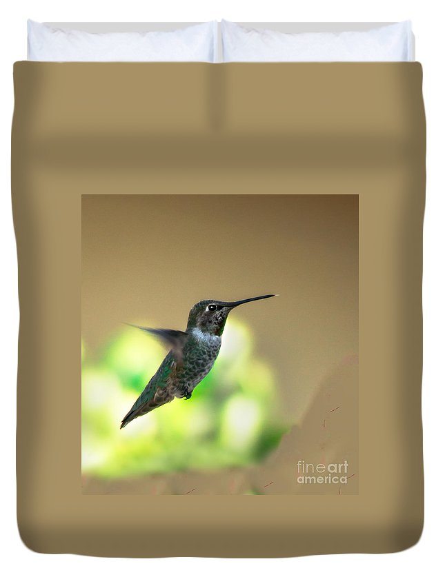 Birds Duvet Cover featuring the photograph Stationary by Robert Bales