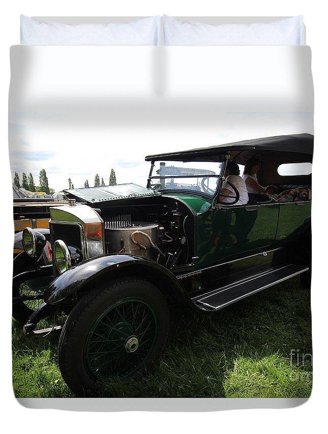 Duvet Cover featuring the photograph Steam Car by John Bailey Photos