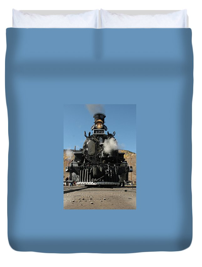 Steam Duvet Cover featuring the photograph Steam Power by Jerry McElroy