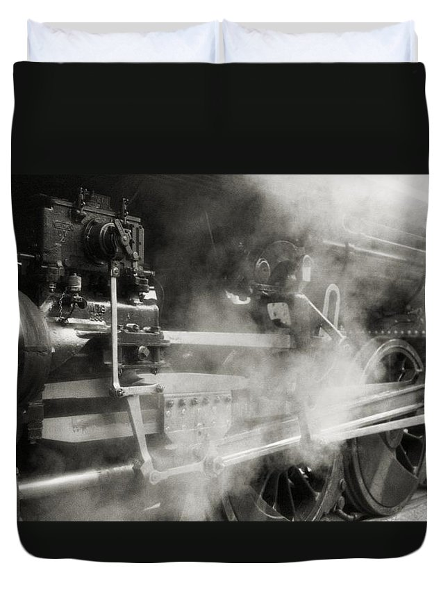Trains Duvet Cover featuring the photograph Steam Power by Richard Rizzo
