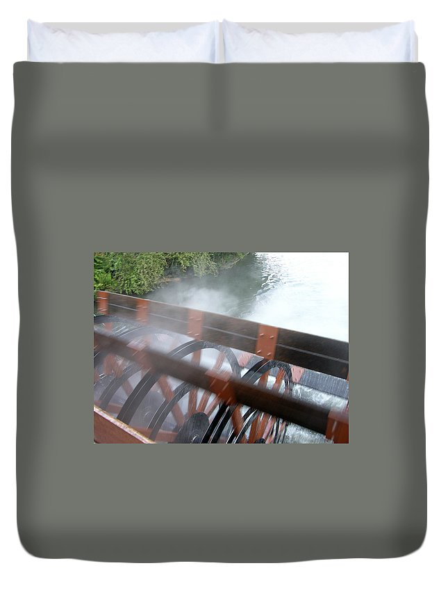 Steamboat Duvet Cover featuring the photograph Steamboat by Are Lund