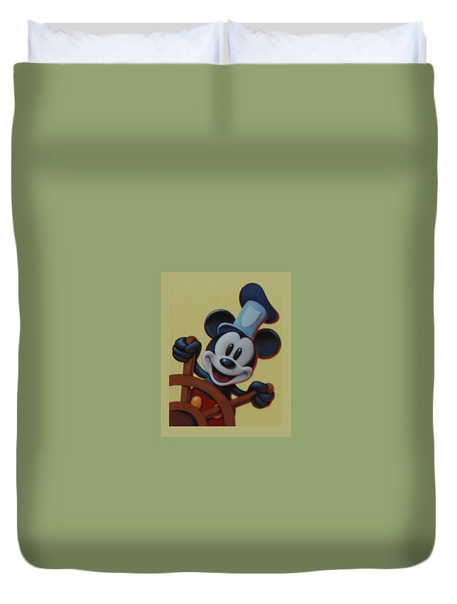 Disney Duvet Cover featuring the photograph Steamboat Willy by Rob Hans