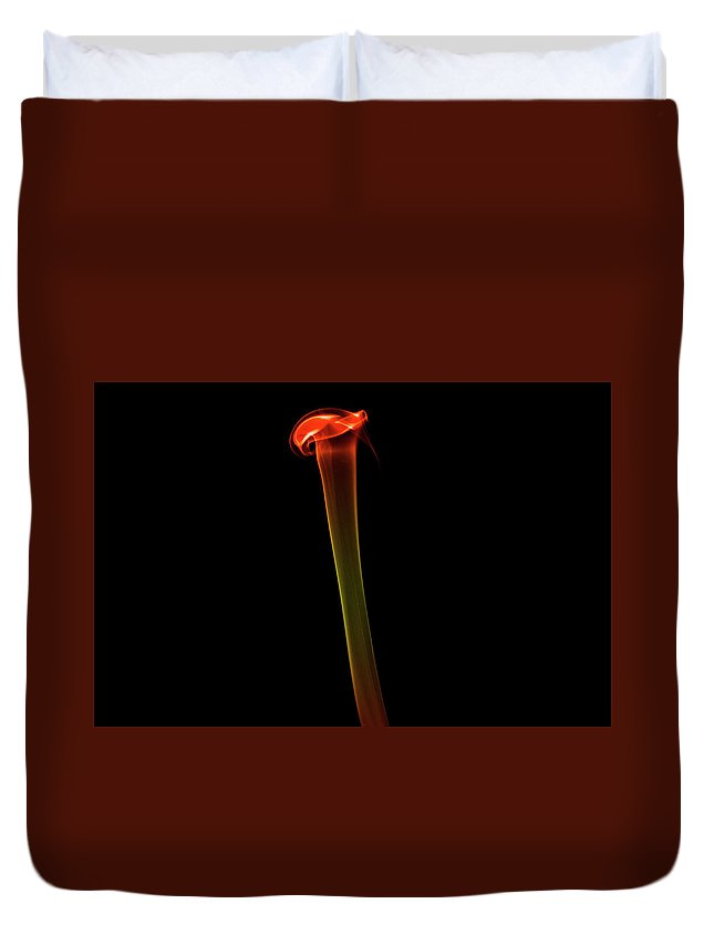 Smoke Duvet Cover featuring the photograph Stem by Neil Crawford