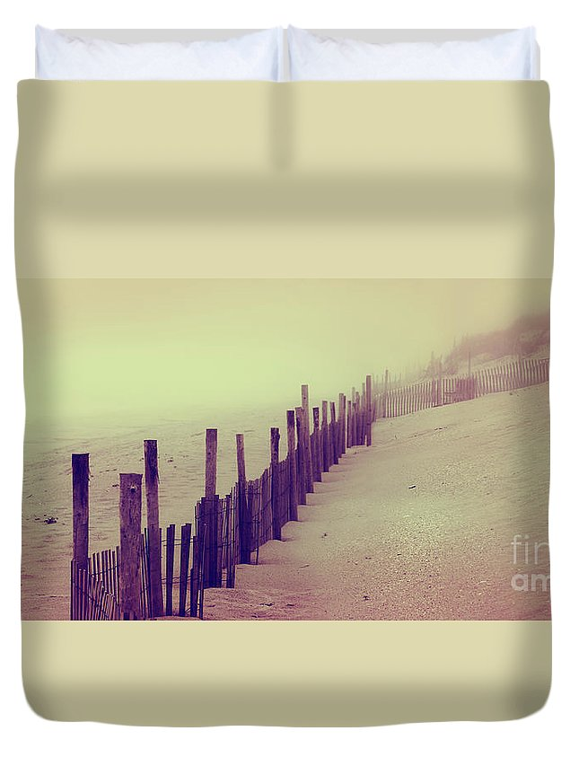 New Jersey Duvet Cover featuring the photograph Stepping In A Clouded Dream by Dana DiPasquale