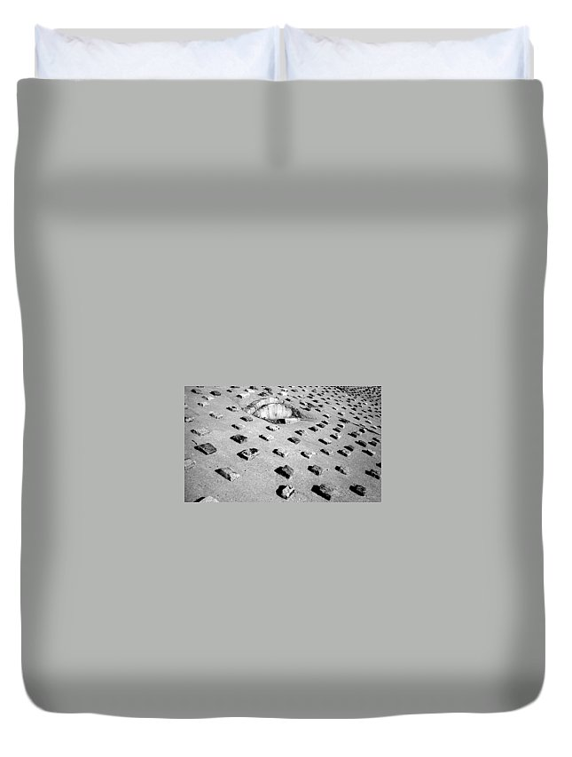 Pattern Duvet Cover featuring the photograph Stepping Stones by Deborah Crew-Johnson