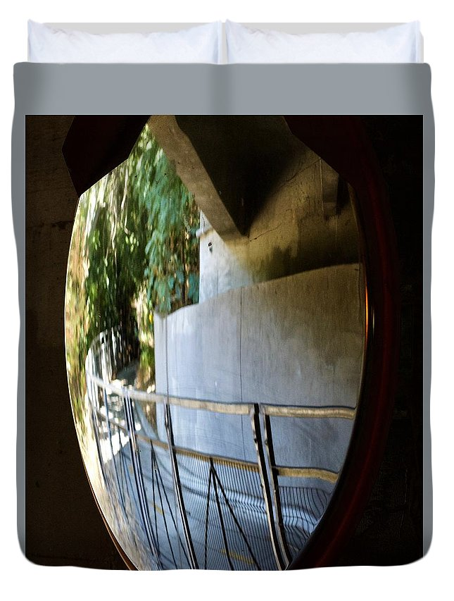 Landscape Duvet Cover featuring the photograph Stevens Creek Trail by Kathy Beyer