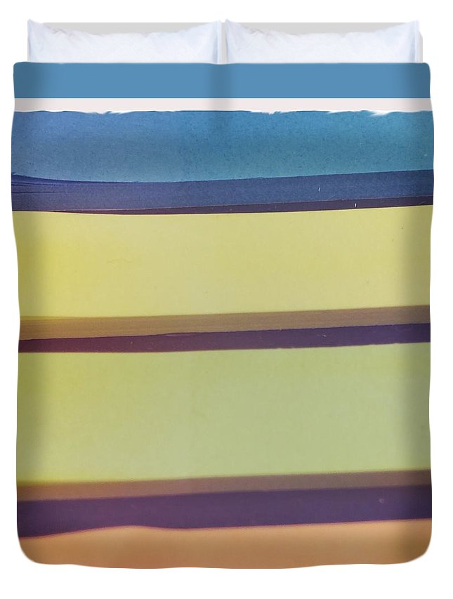 Abstract Duvet Cover featuring the photograph Sticky Stripes by Judith Kitzes