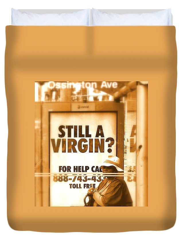 Virgin Duvet Cover featuring the photograph Still Hope by Valentino Visentini