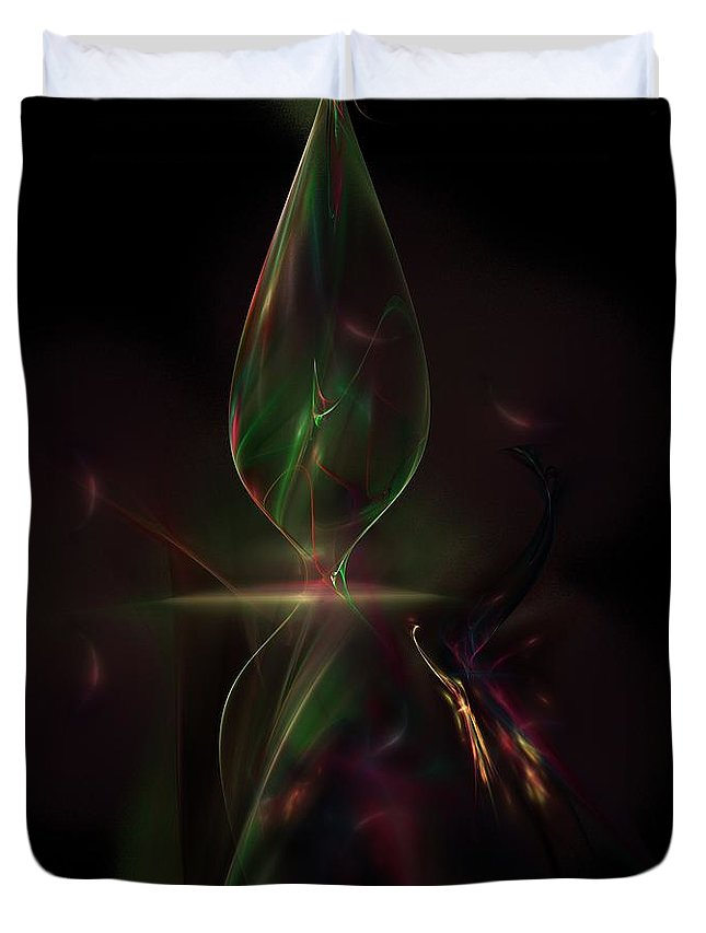 Abstract Digital Painting Duvet Cover featuring the digital art Still Life 11-14-09 by David Lane