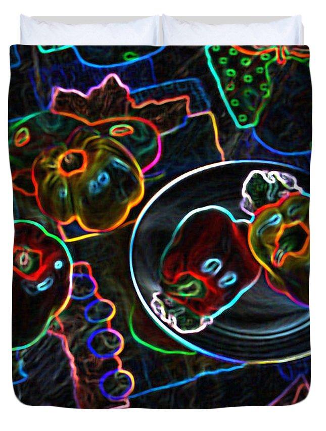 Still Life Duvet Cover featuring the digital art Still Life D by Iliyan Bozhanov