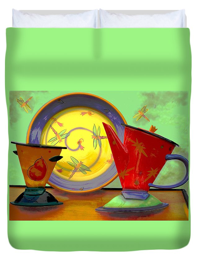 Dragonflys Duvet Cover featuring the photograph Still Life One by Jeff Burgess