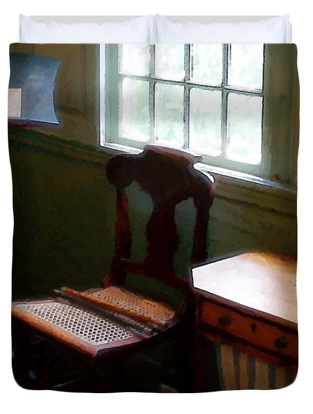 Still Life Duvet Cover featuring the painting Still Life, Stevens House by RC deWinter
