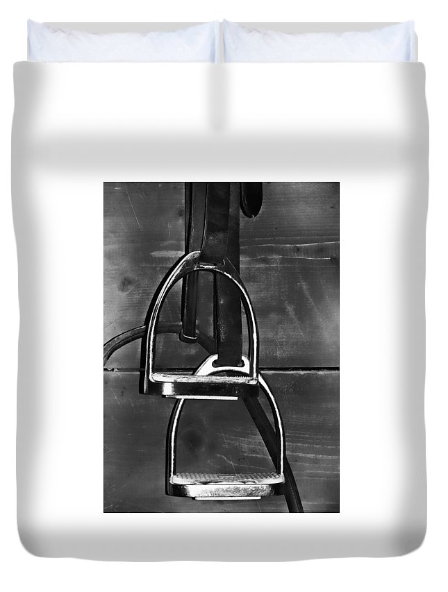 Horse Duvet Cover featuring the photograph Stirrup Irons by JAMART Photography