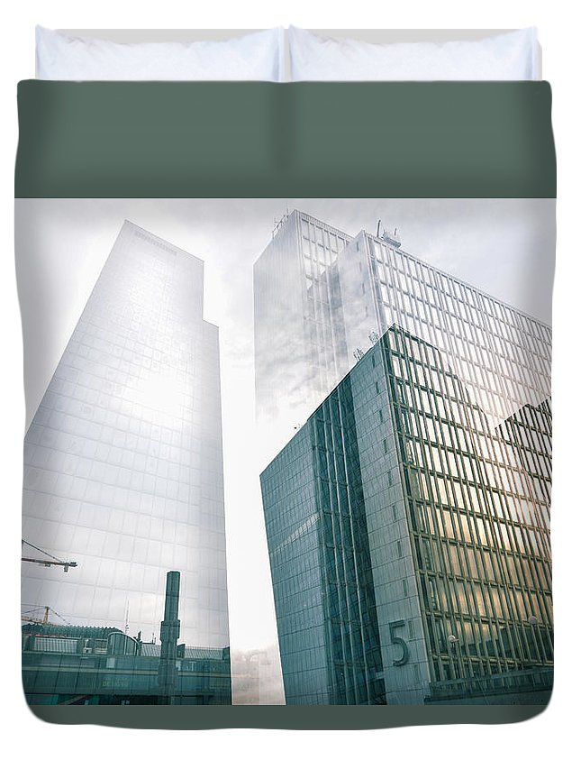Architecture Duvet Cover featuring the photograph Stockholm Skyscraper No5 by Marcus Karlsson Sall
