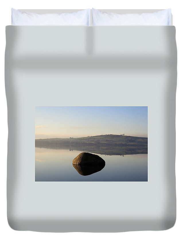 Landscape Duvet Cover featuring the photograph Stone Egg by Phil Crean