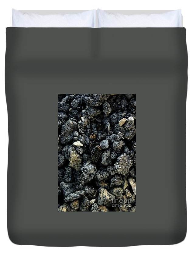 Duvet Cover featuring the photograph Stone by Masha Hrytsenko